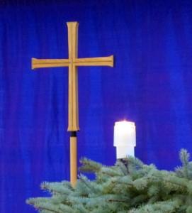 Cross & candle