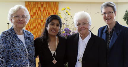 Sisters Joanne, Rosy, Mary David and Lynne at Rosy's first monastic profession