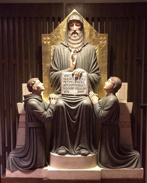 Statue of Benedict, Saint John's Abbey, Collegeville, MN